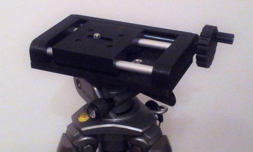 Slitta micrometrica per macrofotografia